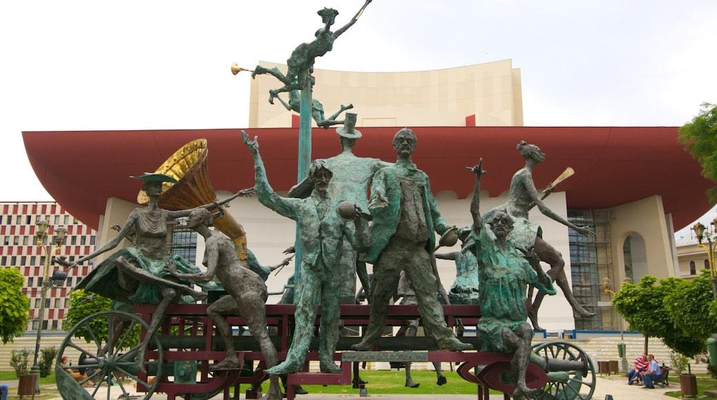Bucarest caratteristiche di statua o scultura, teatro e arte urbana