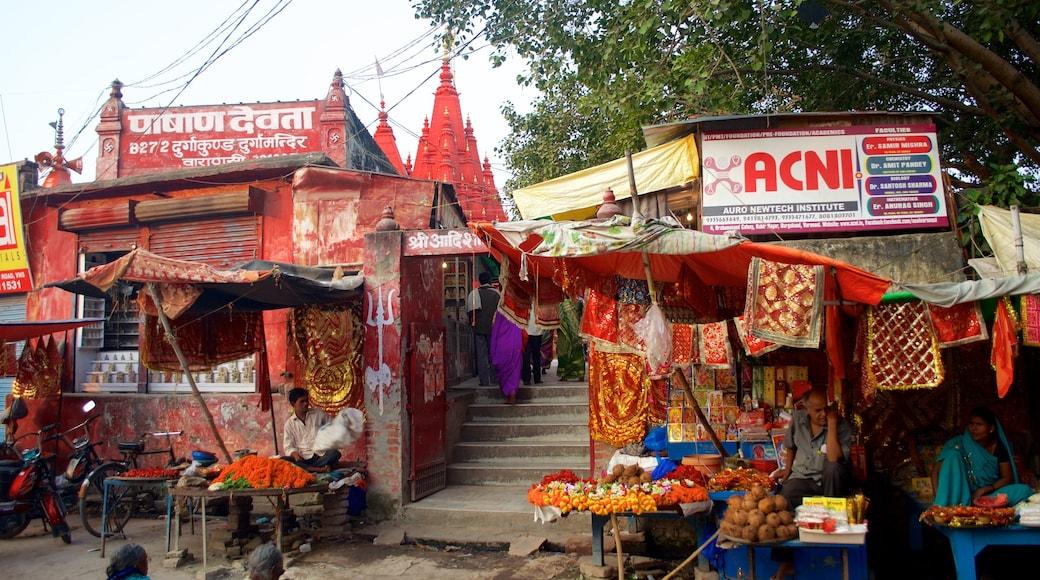 Durga Temple showing markets