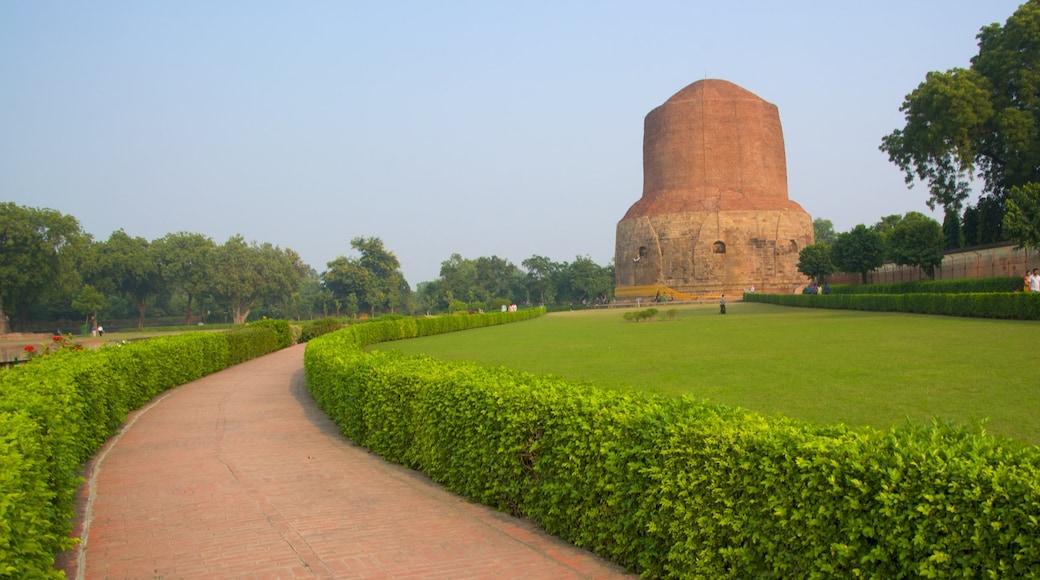 Dharmarajika Stupa featuring a garden