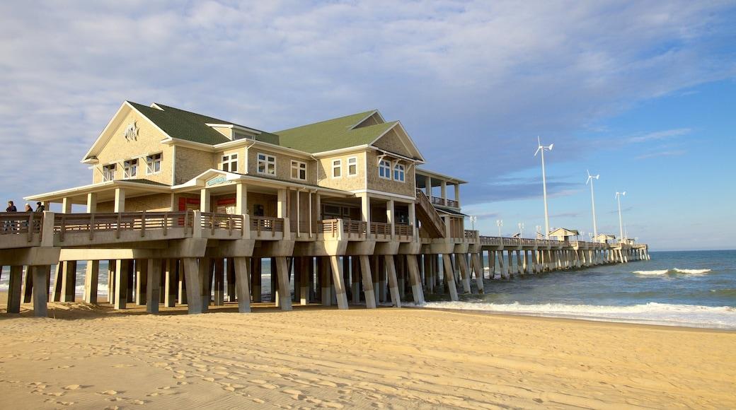 Jennette\'s Pier caracterizando uma praia