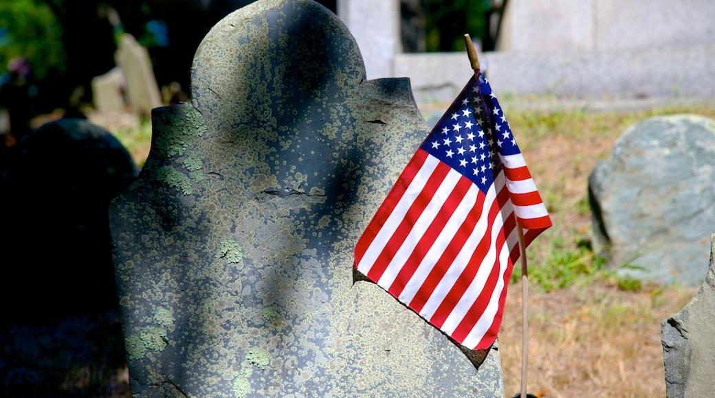 Cementerio Burial Hill ofreciendo un cementerio