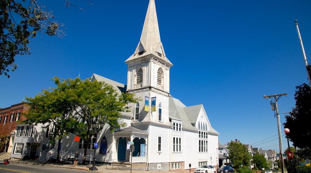 Plymouth que incluye una iglesia o catedral
