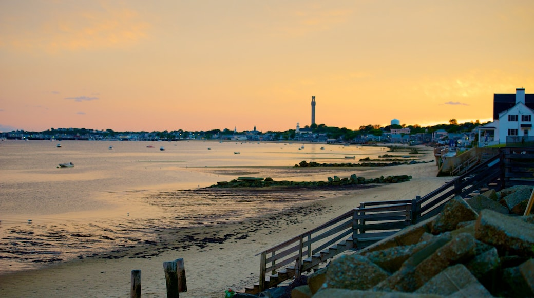 Provincetown featuring a sunset and a beach