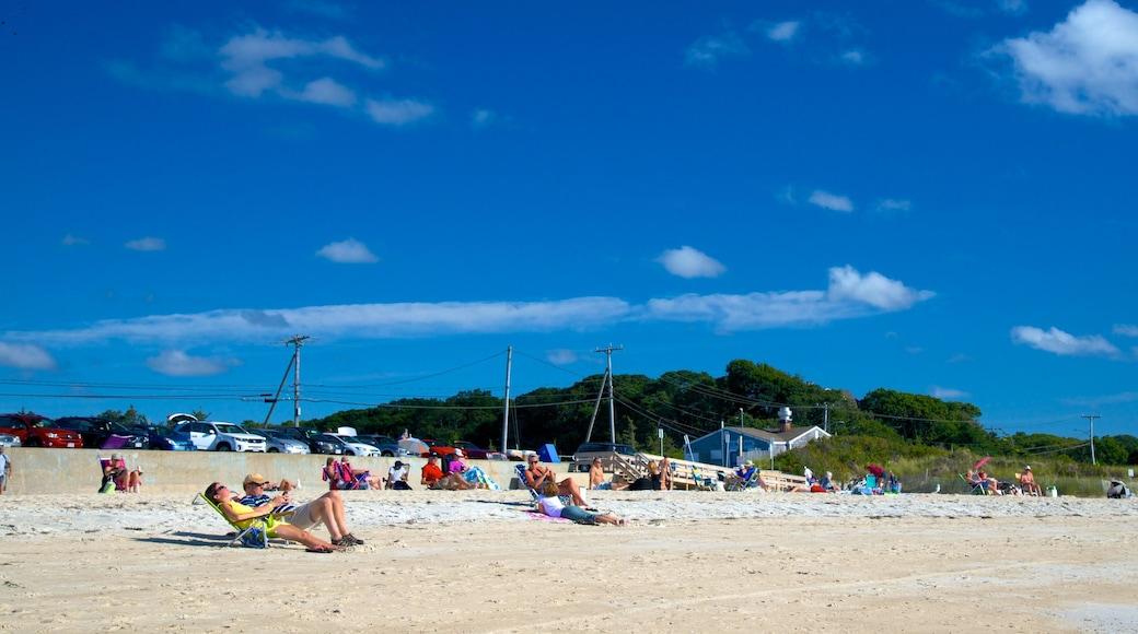 Old Silver Beach que inclui uma praia assim como um pequeno grupo de pessoas