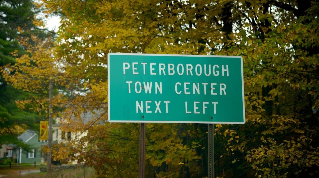 Peterborough showing signage