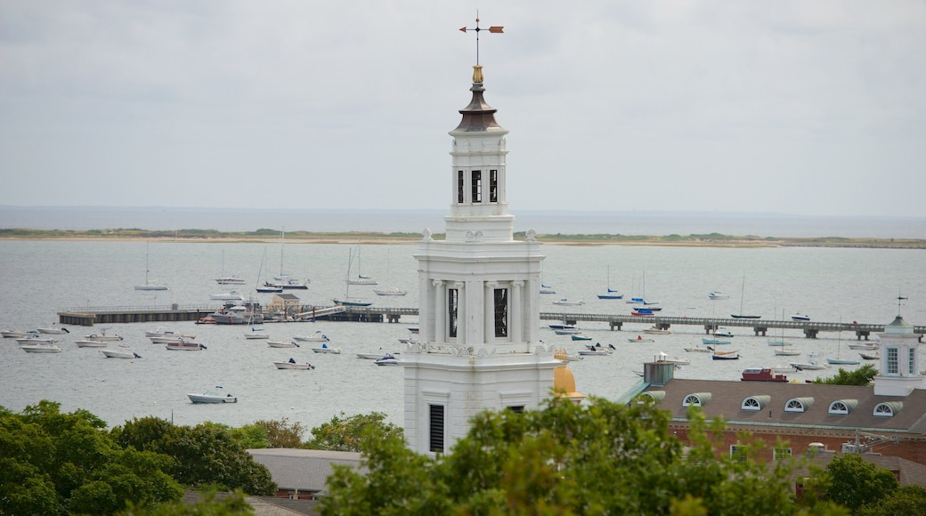 Pilgrim Monument featuring a monument and a bay or harbor
