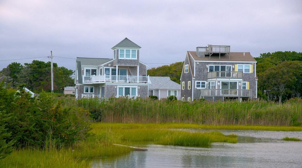 Kalmus Beach mostrando uma casa e um lago ou charco