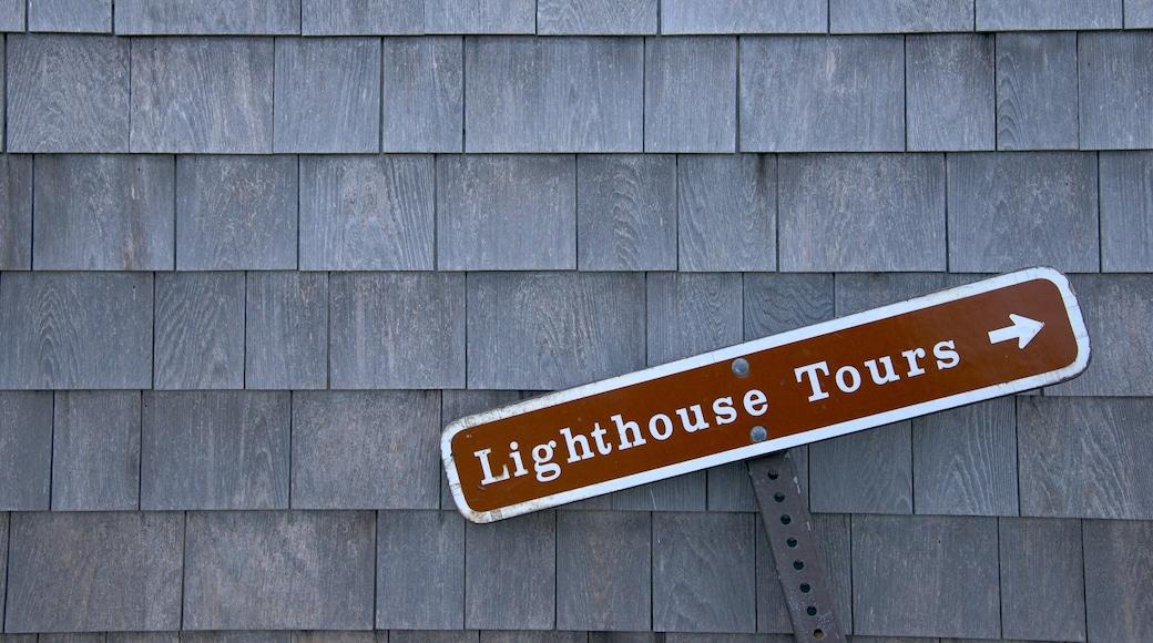 Highland Lighthouse showing signage
