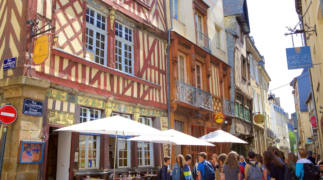 Rennes which includes café scenes and street scenes as well as a large group of people