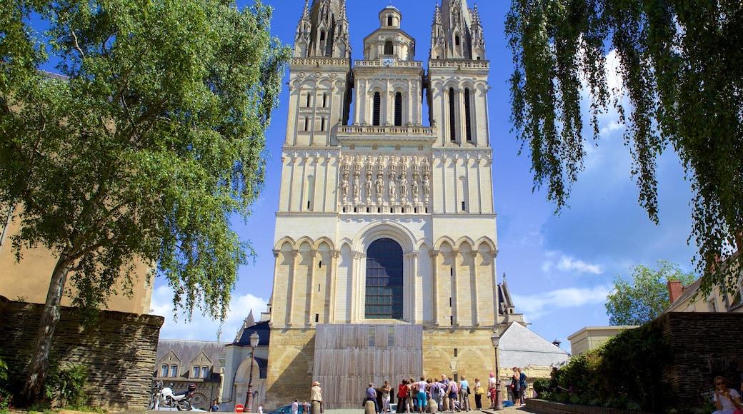 Cathédrale d\'Angers qui includes patrimoine historique et église ou cathédrale