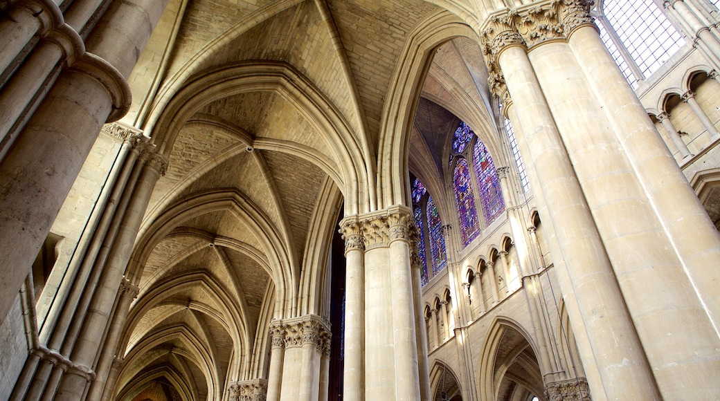 Kathedrale von Reims das einen Innenansichten, Geschichtliches und historische Architektur