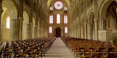 St. Remi Basilica which includes a church or cathedral, interior views and heritage elements