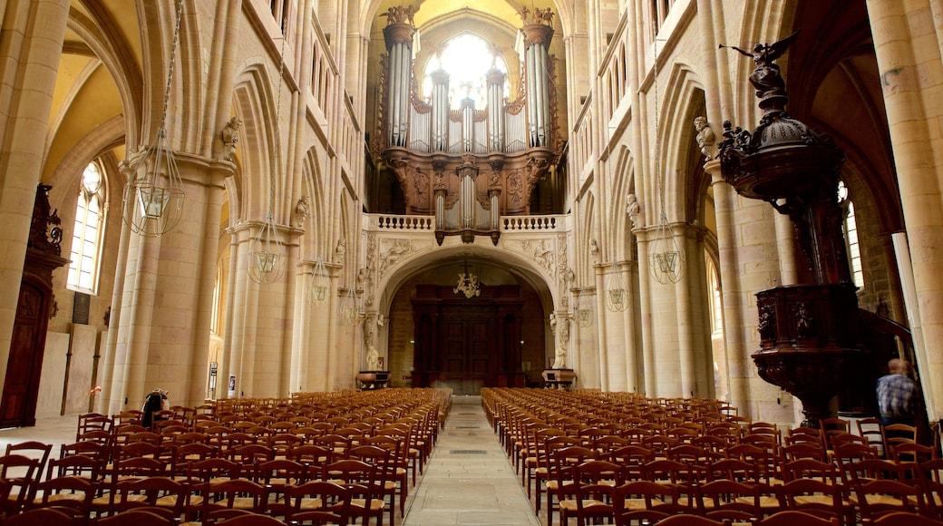 Cathédrale de Dijon montrant vues intérieures, église ou cathédrale et patrimoine historique