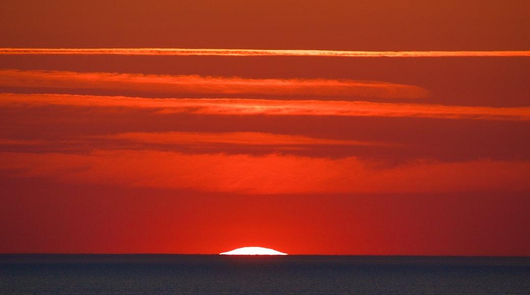 Ponte di Ile de Re caratteristiche di tramonto