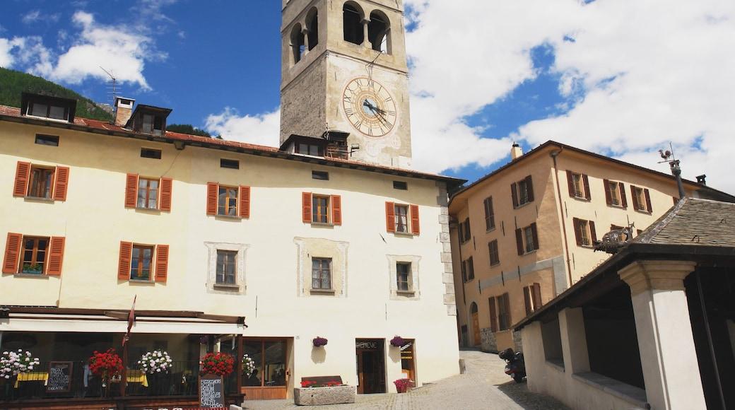 Bormio fasiliteter samt liten by eller landsby