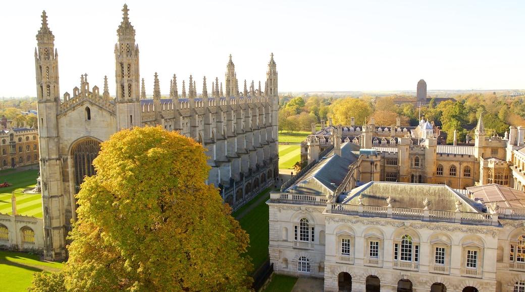 King\'s College Chapel mostrando elementos patrimoniales, arquitectura patrimonial y una iglesia o catedral