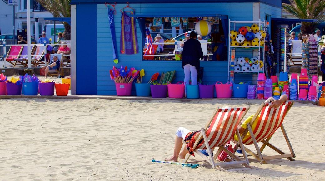 Weymouth Beach featuring shopping and a beach
