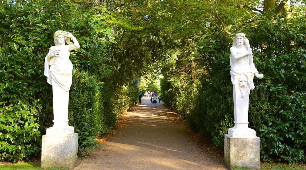Anglesey Abbey featuring a statue or sculpture