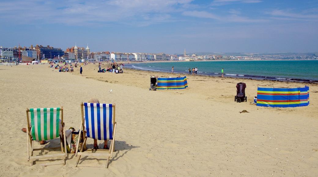 Weymouth Beach which includes a beach