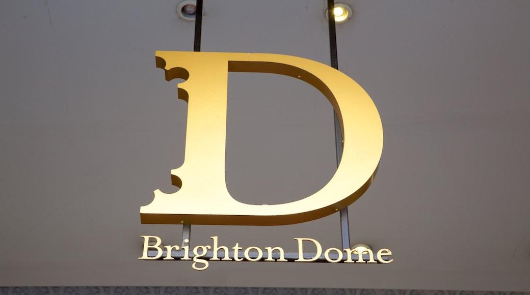 Brighton Dome featuring signage