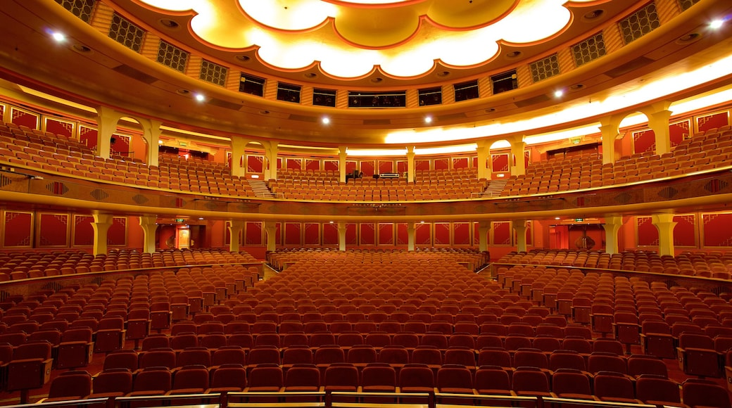 Brighton Dome which includes interior views, heritage elements and theater scenes