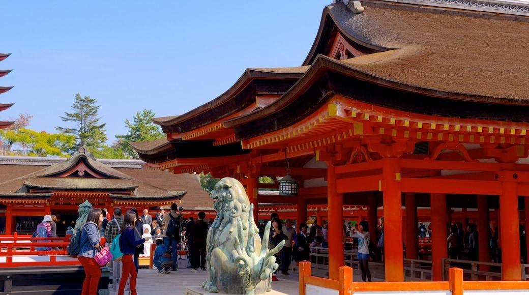 Itsukushima Shrine featuring heritage elements
