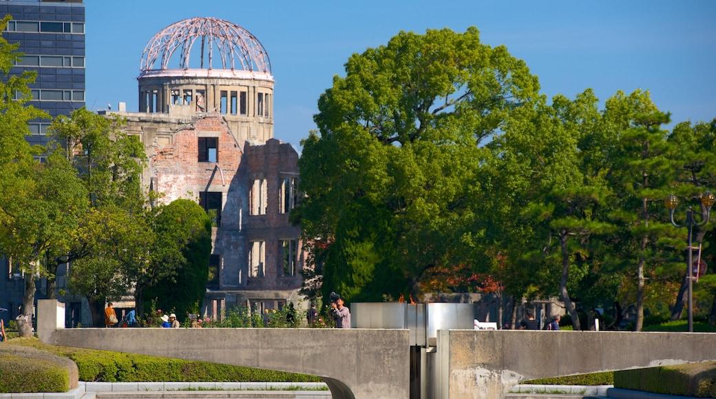 Hiroshima Peace Memorial Park showing heritage elements