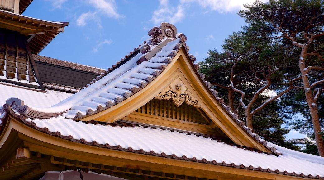 Fort Goryokaku featuring a temple or place of worship
