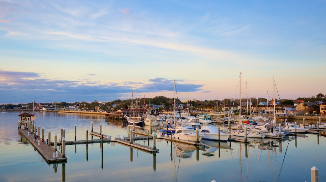 St. Augustine which includes boating, sailing and a marina