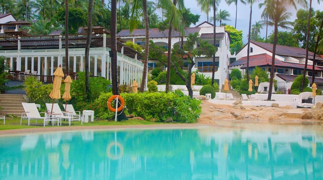 Silver Beach toont een luxueus hotel of resort