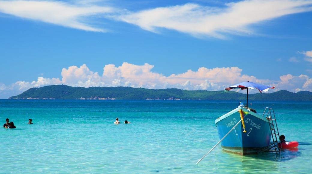 Koh Lan showing general coastal views and boating