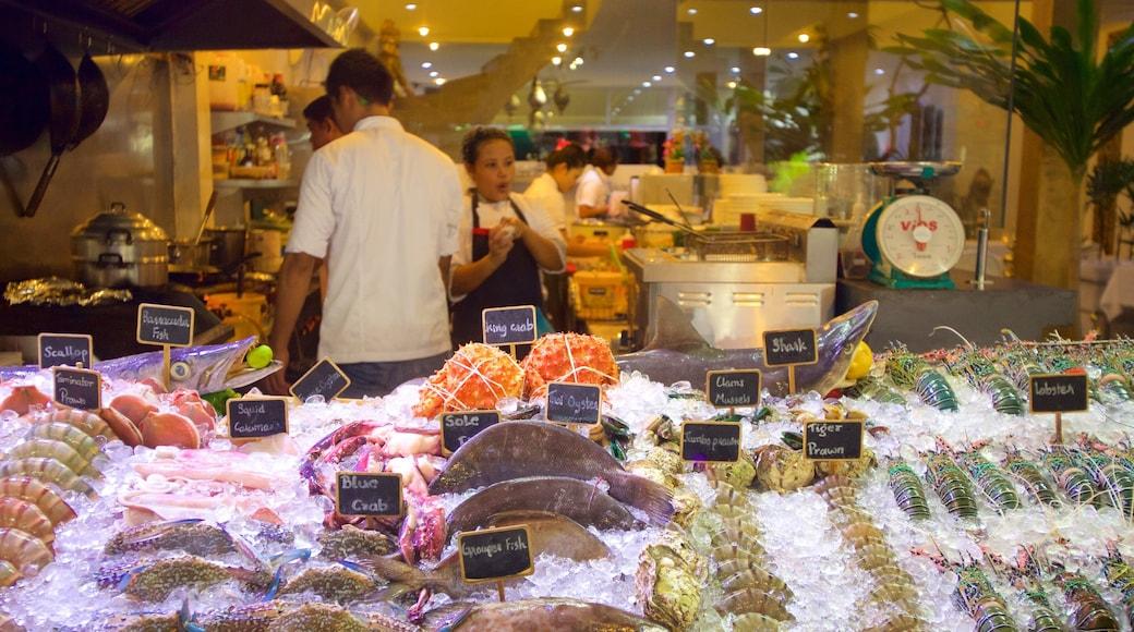 Vissersdorp bevat winkelen en ook een klein groepje mensen