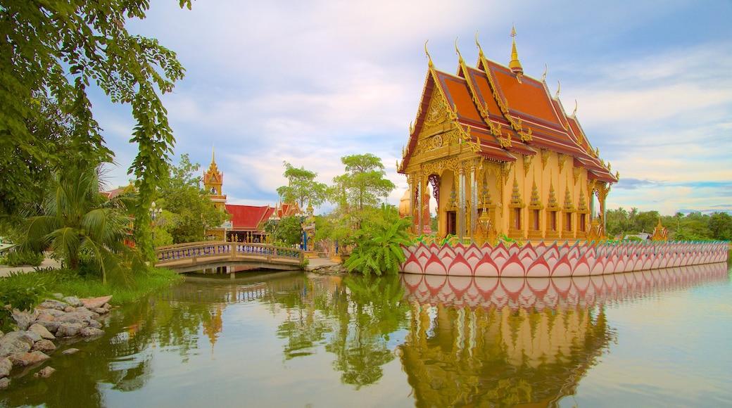 Wat Plai Laem toont een tempel of gebedshuis
