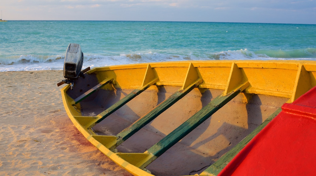 Negril featuring a sandy beach and boating