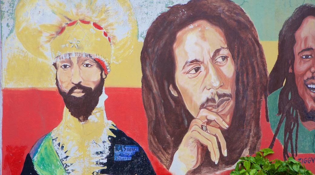Bob Marley Museum which includes outdoor art