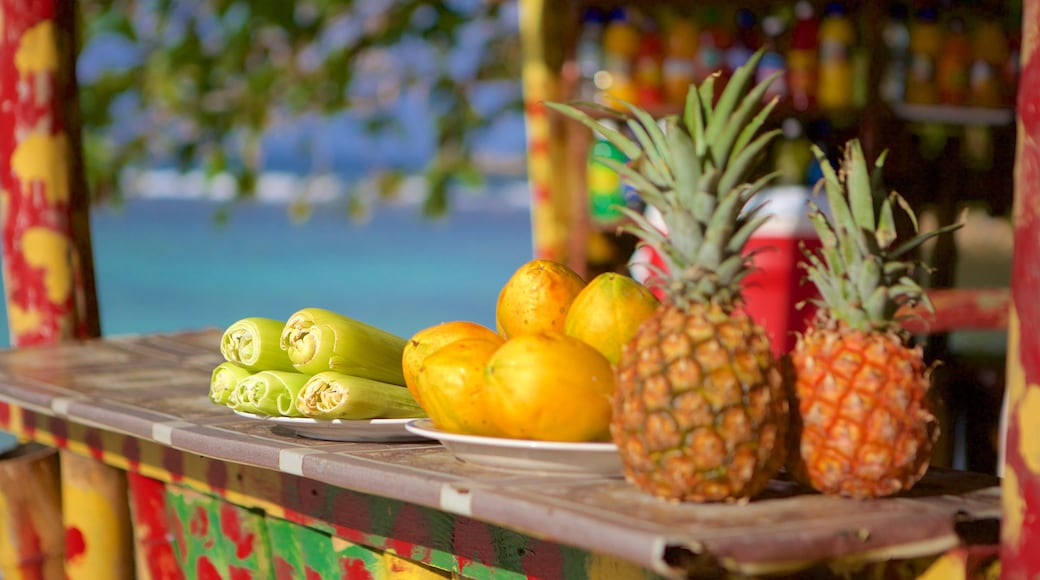 Winnifred Beach featuring food