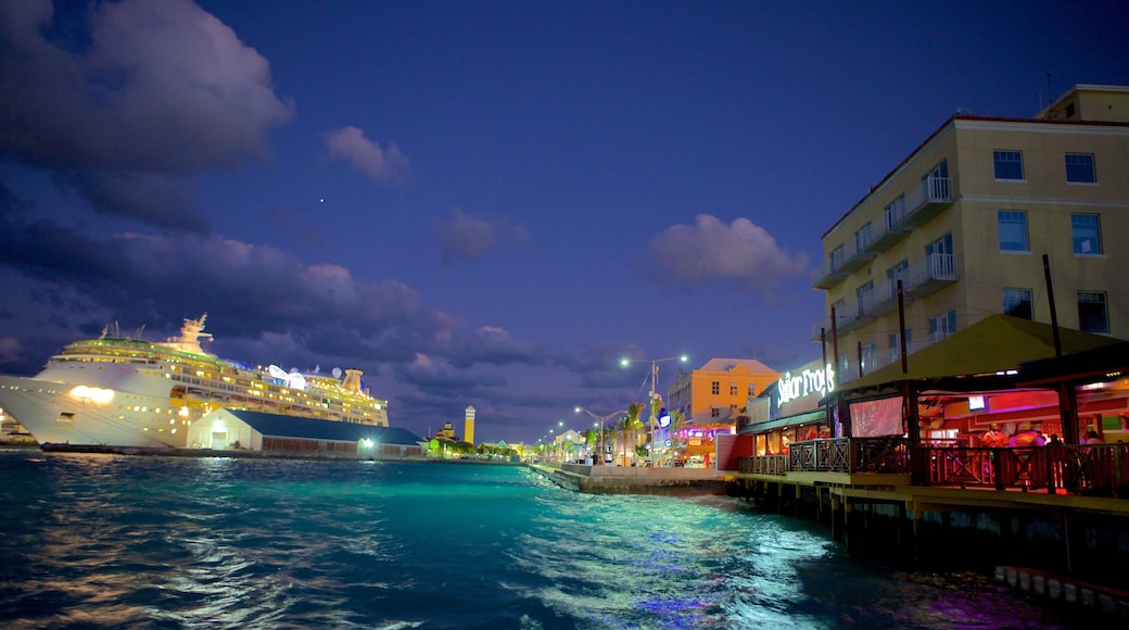 Nassau which includes cruising, general coastal views and night scenes