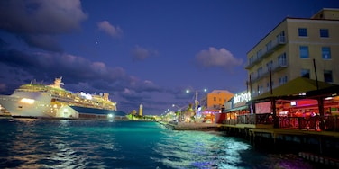 Nassau which includes cruising, night scenes and general coastal views