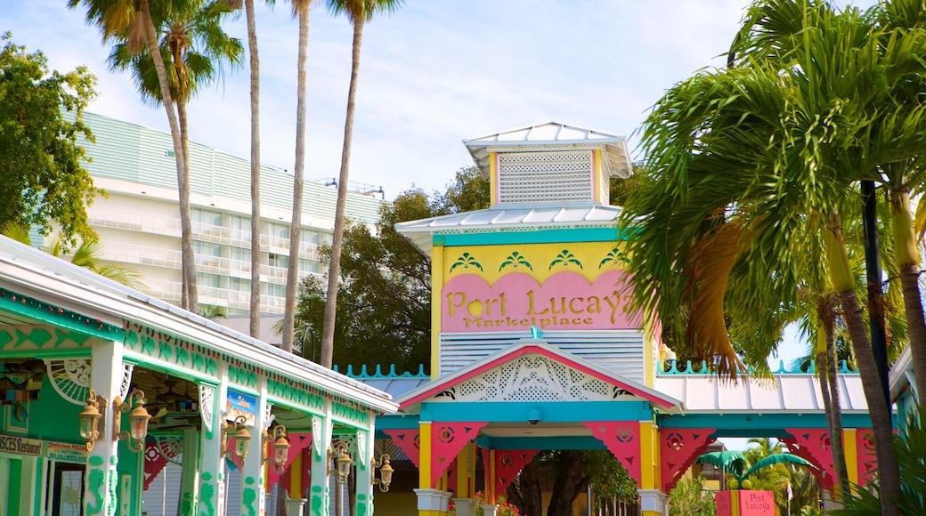 Port Lucaya Marketplace mostrando sinalização