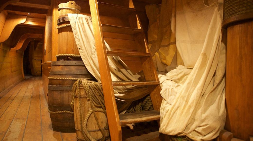 Nassau sjørøvermuseum fasiliteter samt innendørs