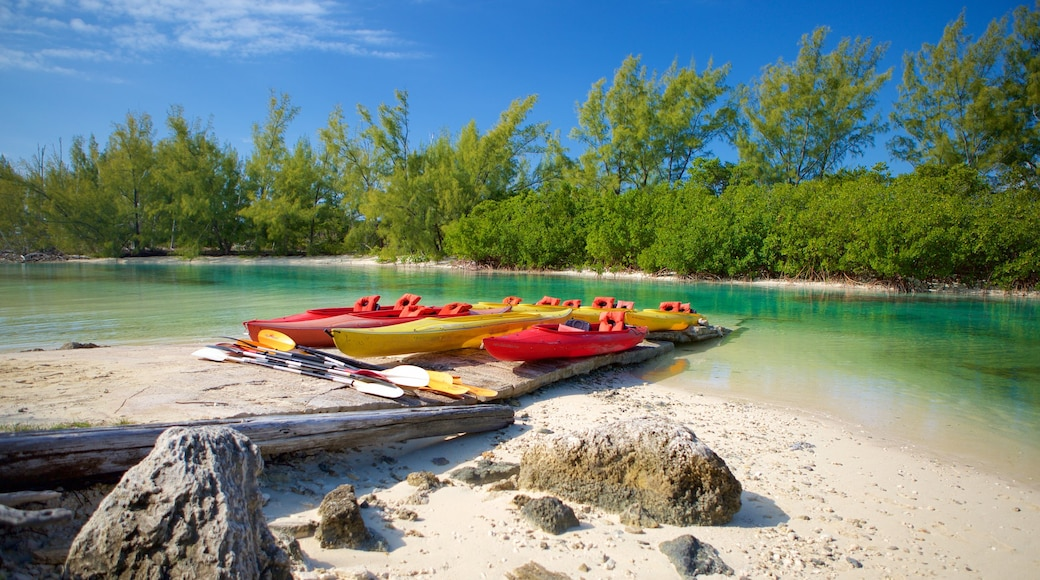 Lucayan National Park featuring kayaking or canoeing and a beach
