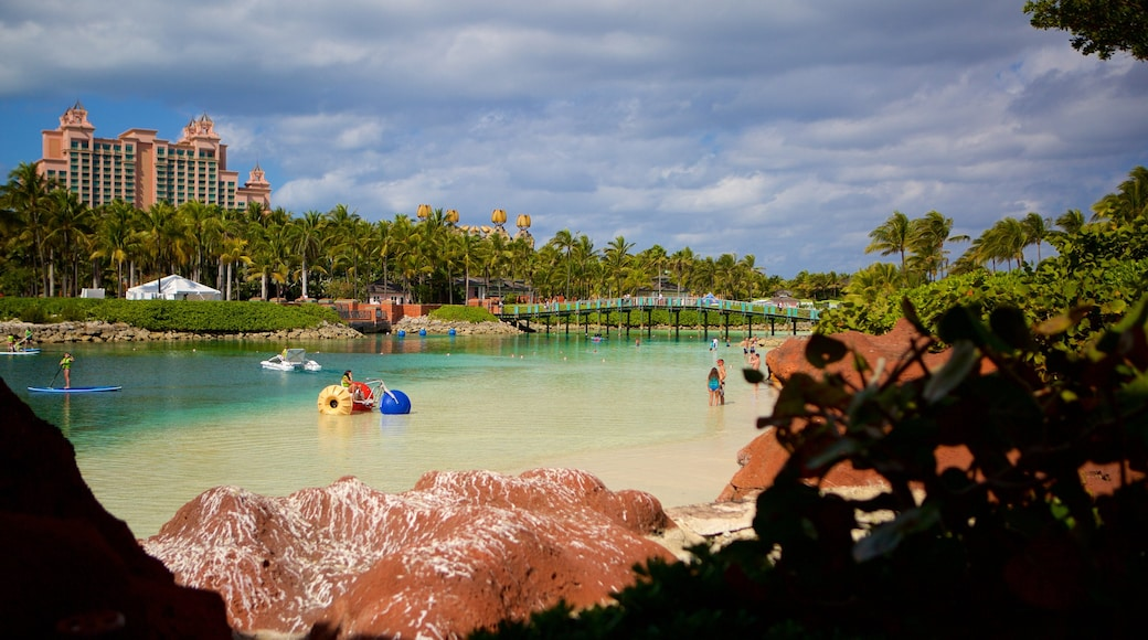Aquaventure featuring rides and a sandy beach