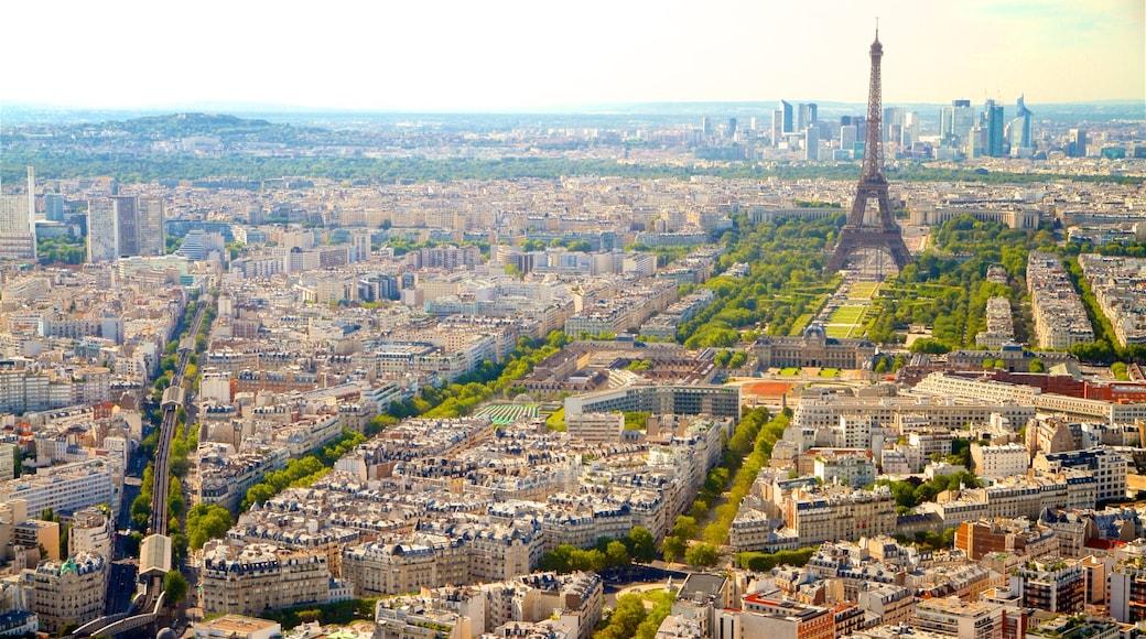 Ile-de-France toont een stad en landschappen
