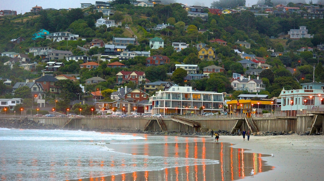 St. Clair Beach which includes a coastal town and a beach