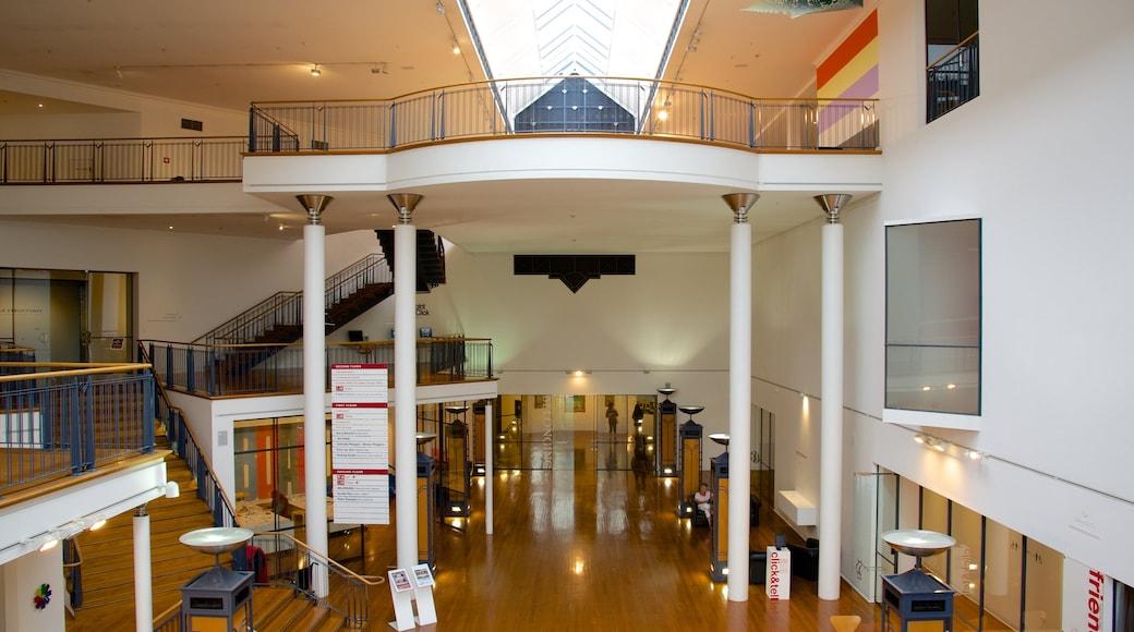 Dunedin Public Art Gallery featuring interior views