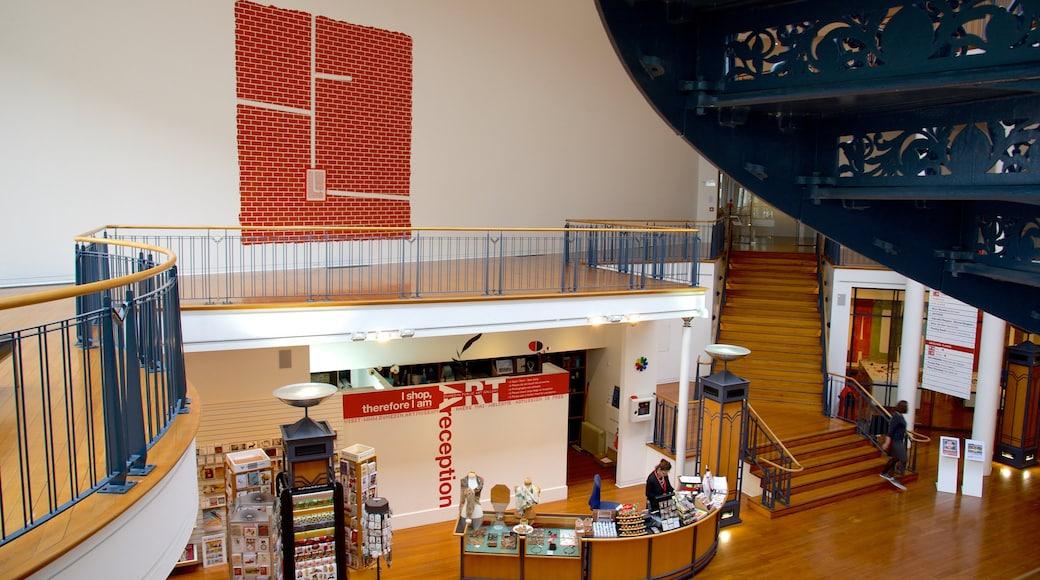 Dunedin Public Art Gallery showing interior views