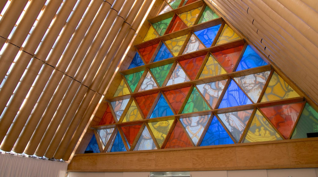 Christchurch mostrando vista interna y arquitectura moderna