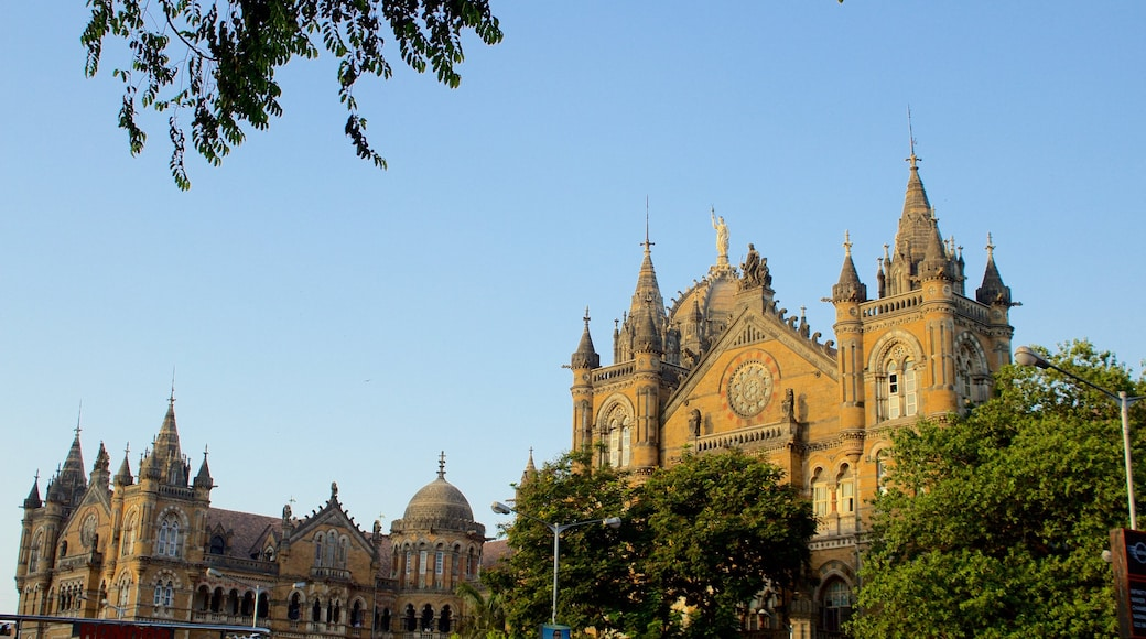 Mumbai featuring heritage elements and a sunset