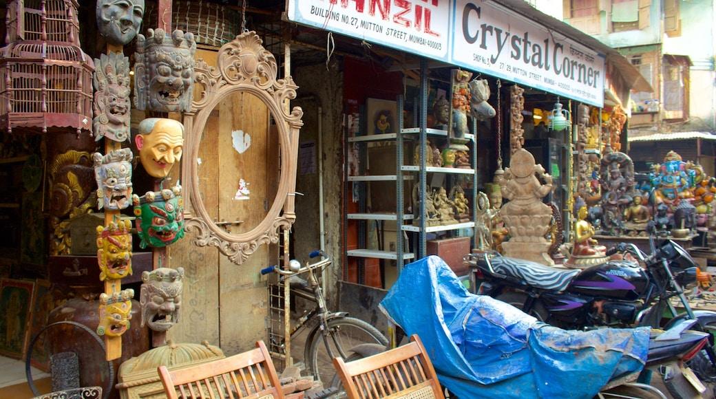 Chor Bazaar showing markets and shopping