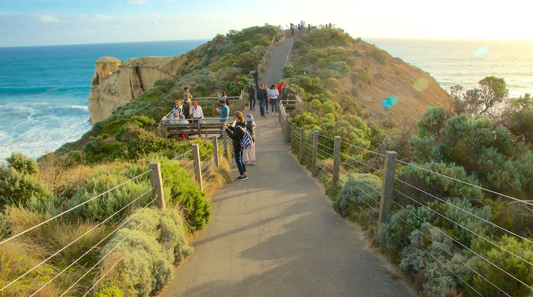 Twelve Apostles featuring general coastal views and views as well as a large group of people